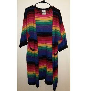 UNIF Rainbow Long Knit Cardigan